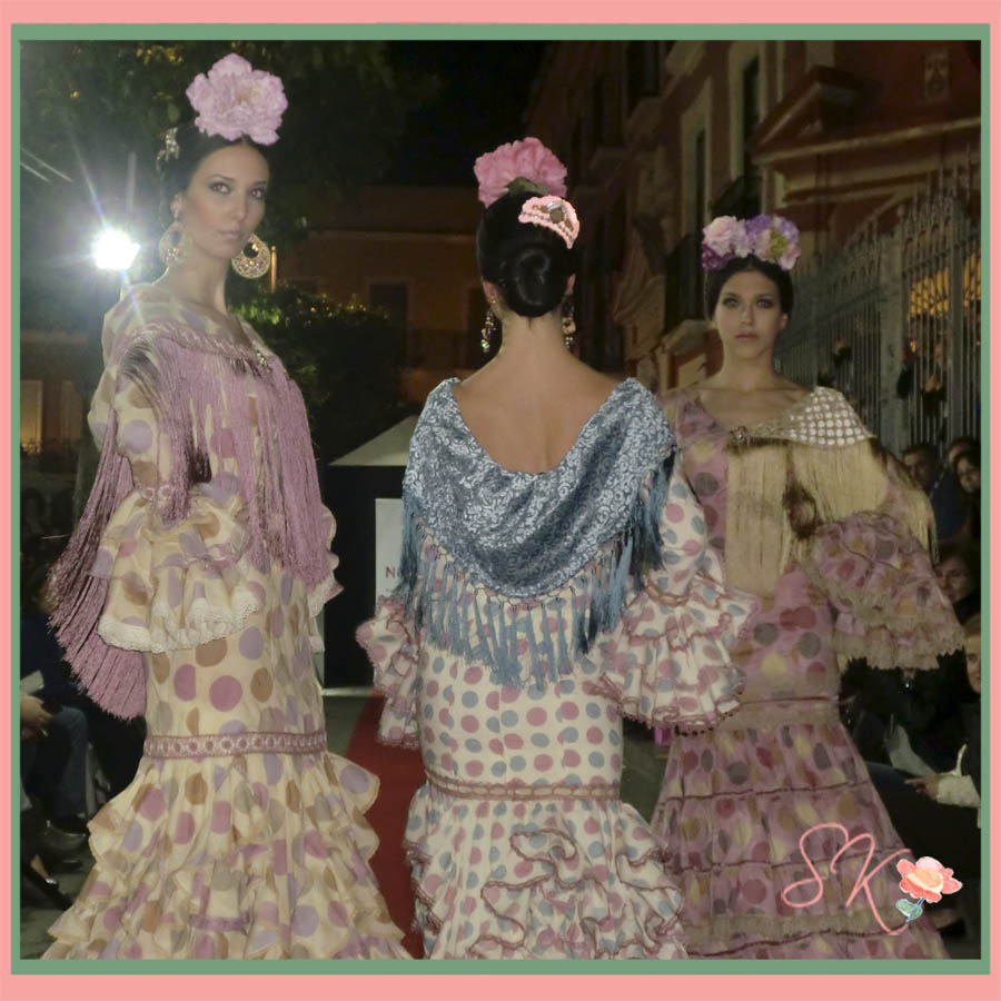 Trajes de flamenca de Luisa Pérez en la Sevilla Fashion Center 2014