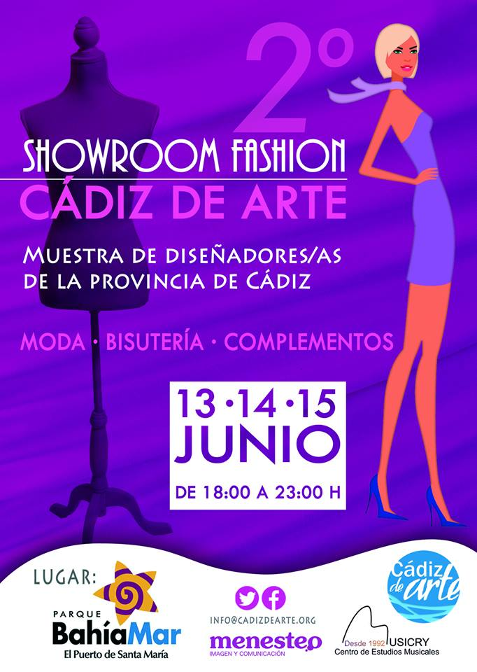 Cartel Showroom Fashion Cadiz de Arte