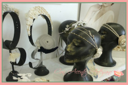 Caroline Bibis & Tocados en Showroom Fashion Cadiz de Arte