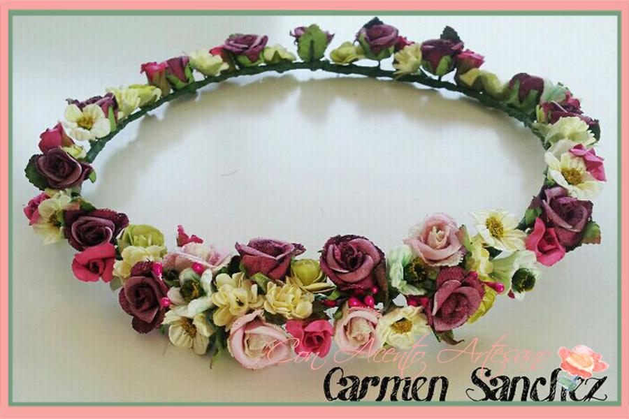 Diadema de flores de Carmen Sanchez