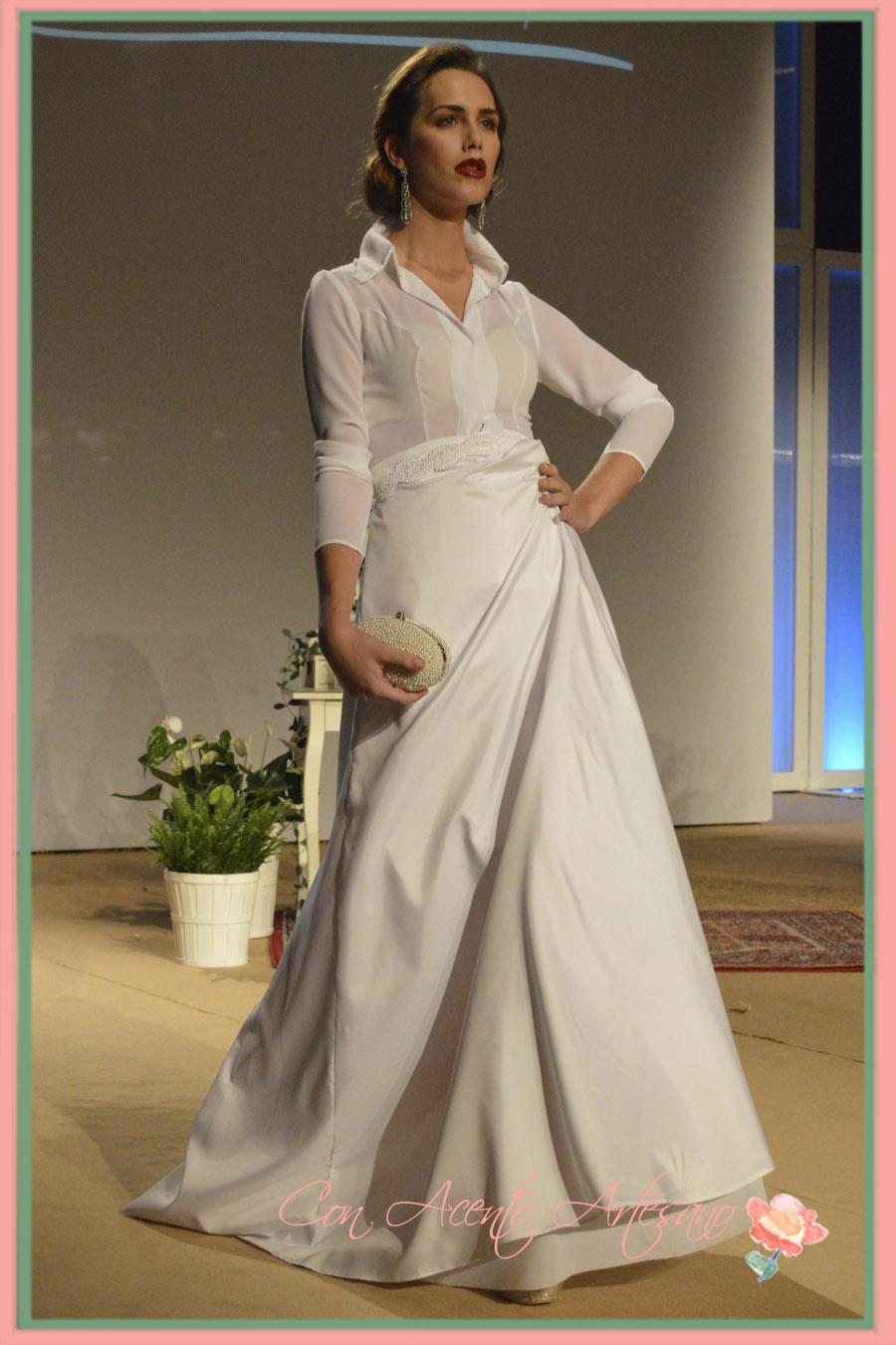 Lápiz vestido de novia de la falda