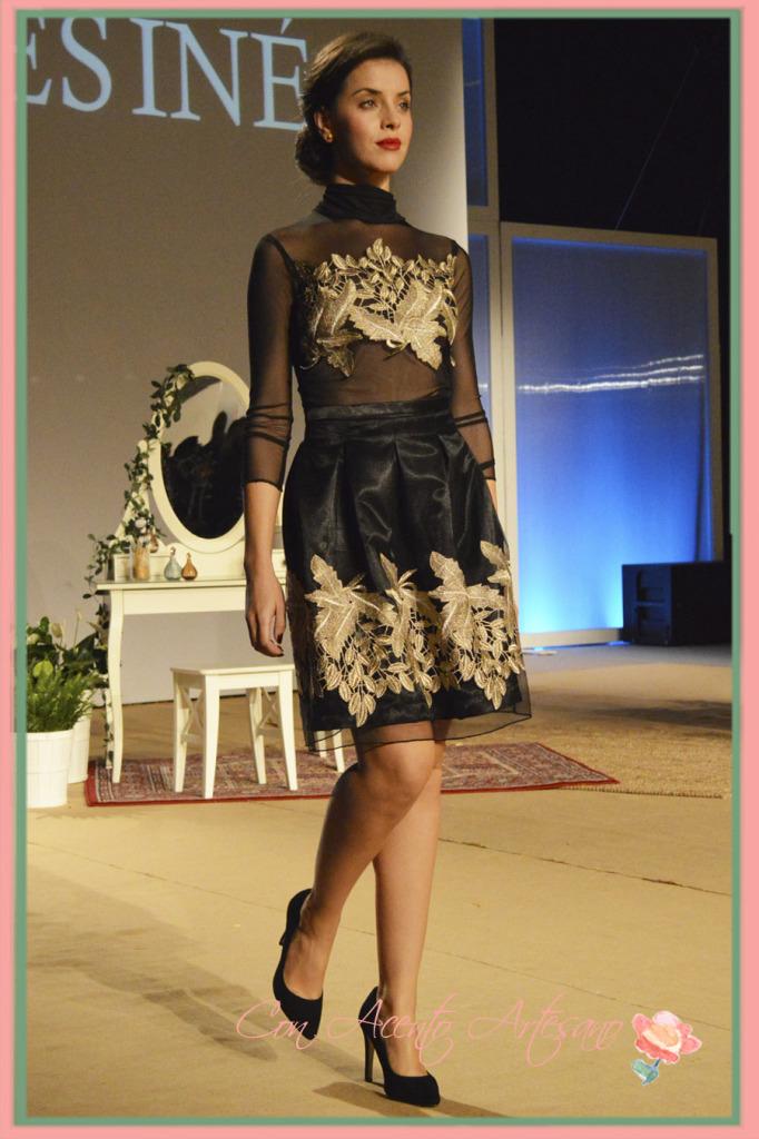 Conjunto transparente de falda y cuerpo de Inés Inés en Sevilla de Boda 2014