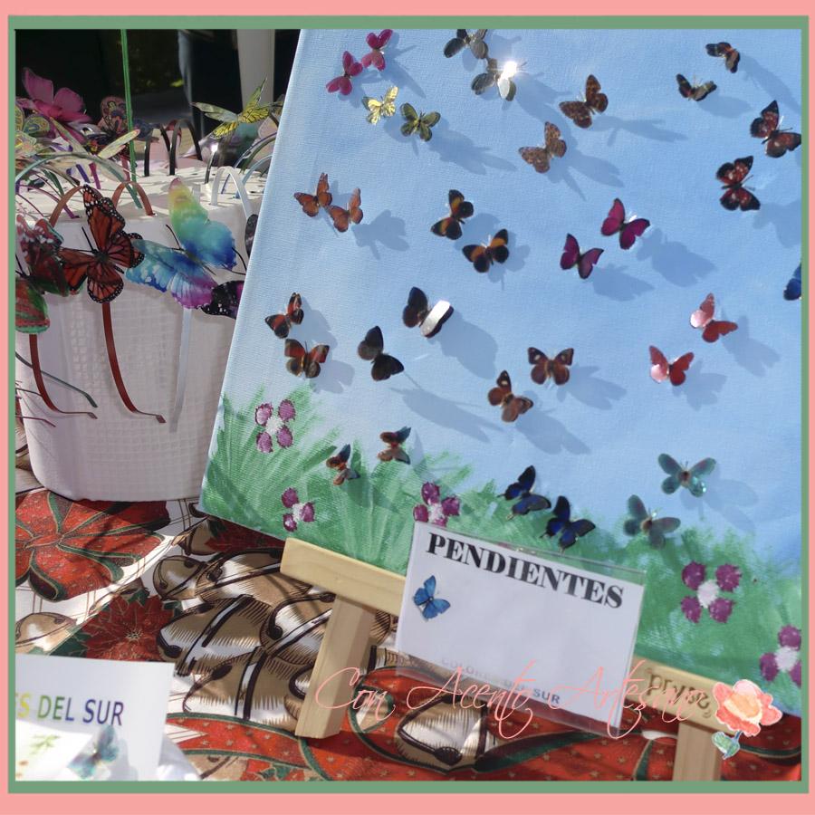 Pendientes de mariposas en Colores del Sur