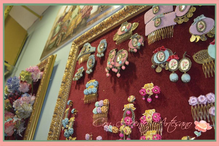 Complementos de flamenca en camafeo y plumeti Raquel Teran