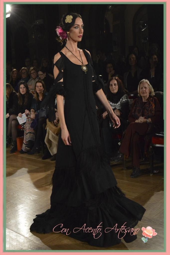 Vestido negro de flamenca de Pol Nuñez