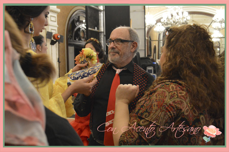 Artepeinas y Ángela Campos en backstage de We Love Flamenco 2015