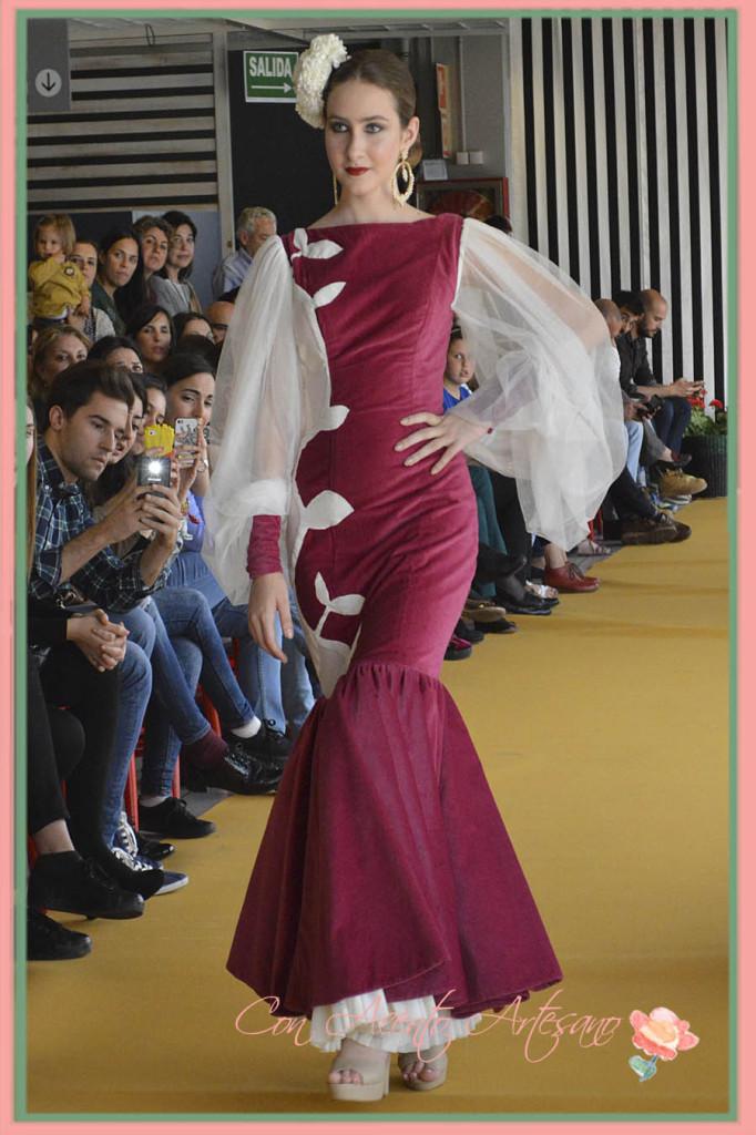 Traje de flamenca de Maria Dolores Hurtado en el III Certamen Moda Flamenca IKEA Sevilla 2015