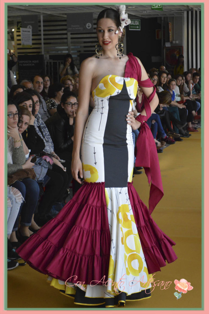 Traje de flamenca de Pedro Maria Luisa Lara en el III Certamen Moda Flamenca IKEA Sevilla 2015