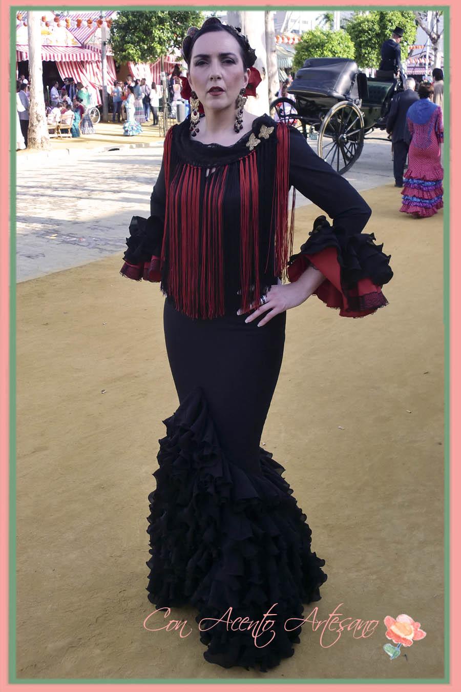 Vestidos de gitana en negro