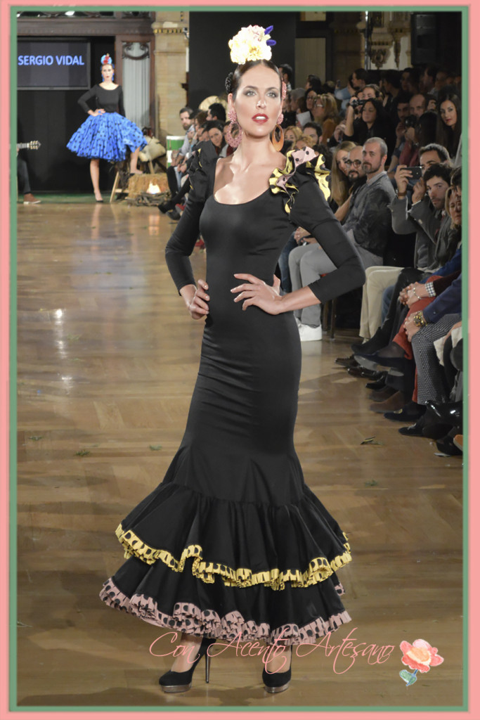 Traje negro de Sergio Vidal en We Love Flamenco 2015