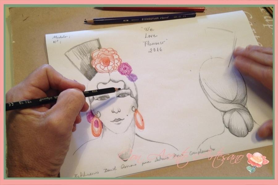 Boceto de Antonio Moro para su colección Creando Sueños