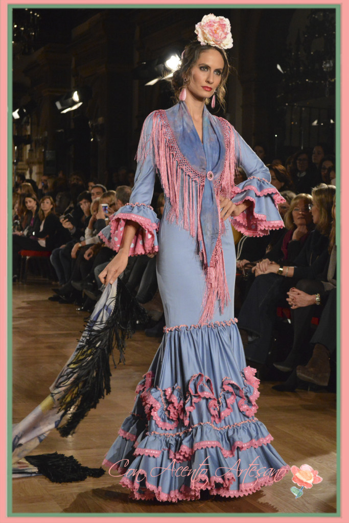 Traje canastero de Fabiola en We Love Flamenco 2015