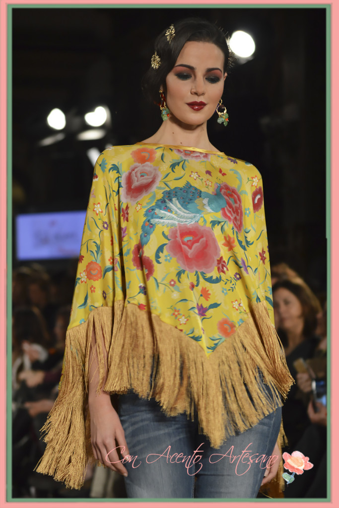Poncho flecado de Pol Nuñez en We Love Flamenco 2016