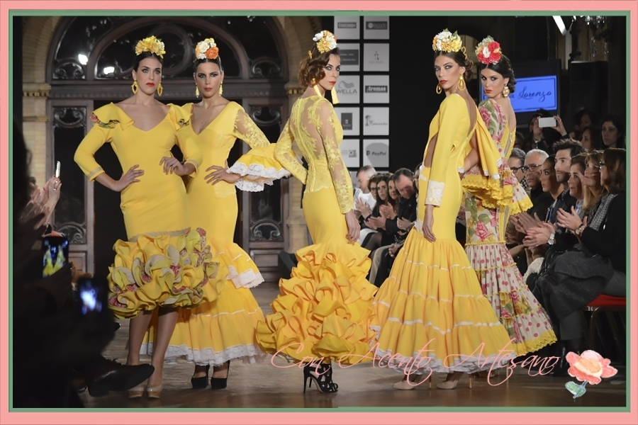 Mini colección en amarillo de Leticia Lorenzo en We Love Flamenco 2016