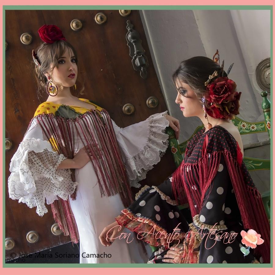Traje de flamenca de lino blanco de Taller de Diseño
