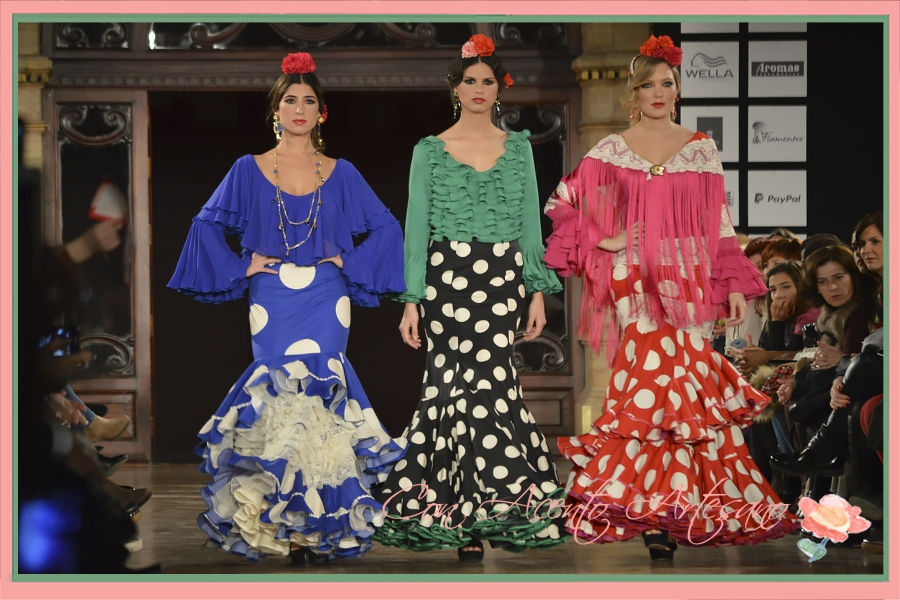 Trajes de flamenca de El Ajolí en We Love Flamenco 2016