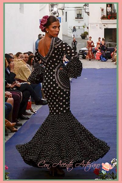 Traje de flamenca de Carmen Acedo en Vejer Flamenco