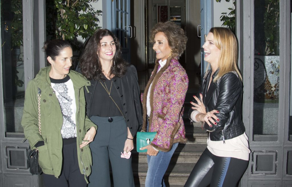 Carolina Herrera, Naty Abascal y Laura Sánchez en la presentación We Love Flamenco y Viva by We Love Flamenco en el Hotel Santo Mauro en Madrid