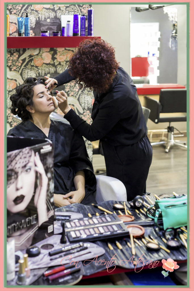 Momentos en Verónica Carrión mientras me maquillaban y peinaban