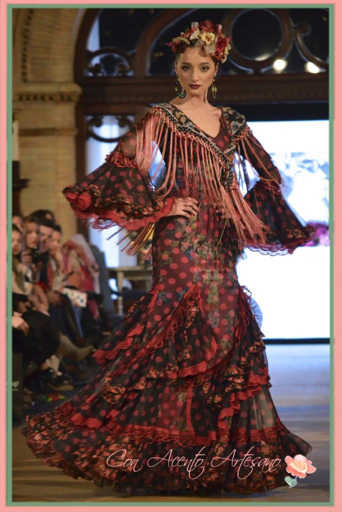 Traje de flamenca de lunares de Taller de Diseño en We Love Flamenca 2017