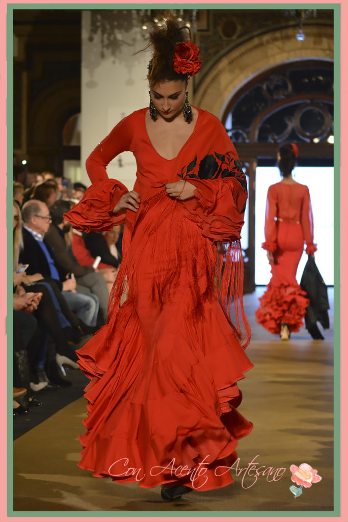 Traje de flamenca de Lola Azahares en We Love Flamenco 2017