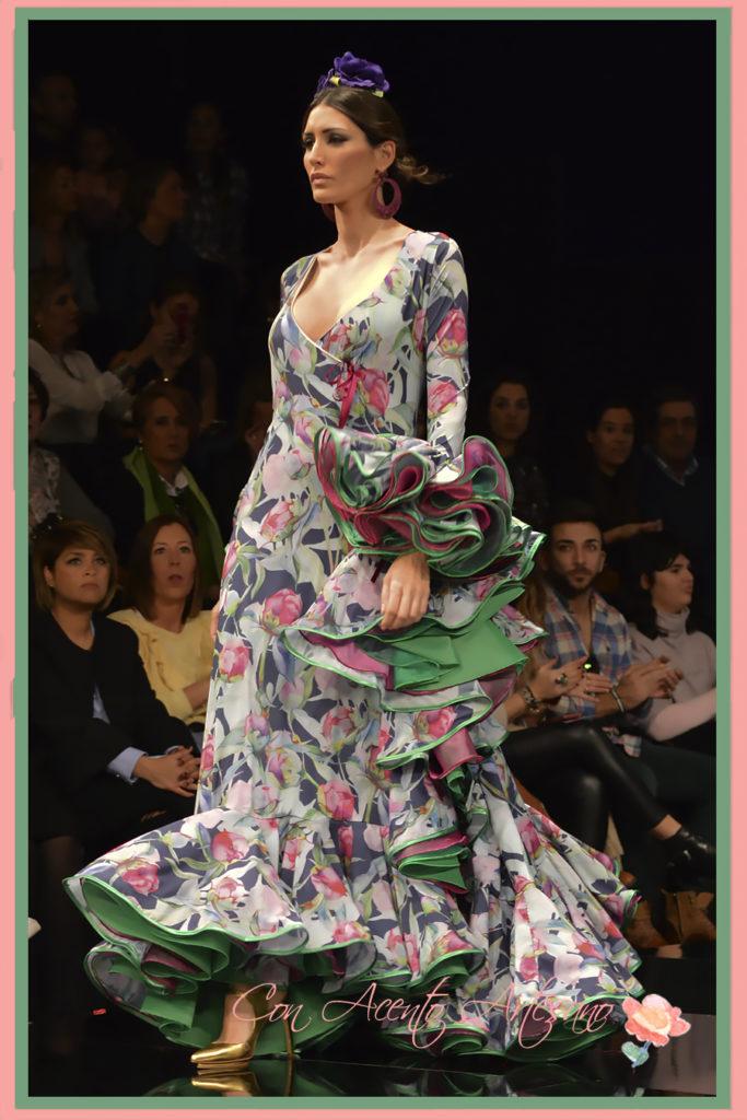 Traje de flamenca de Miríam Galvín en SIMOF 2017