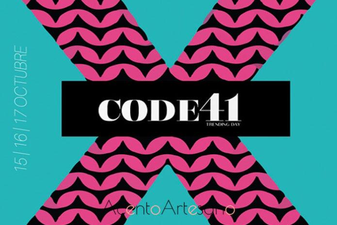 Cartel de la pasarela Code41 Trnding octubre 2018