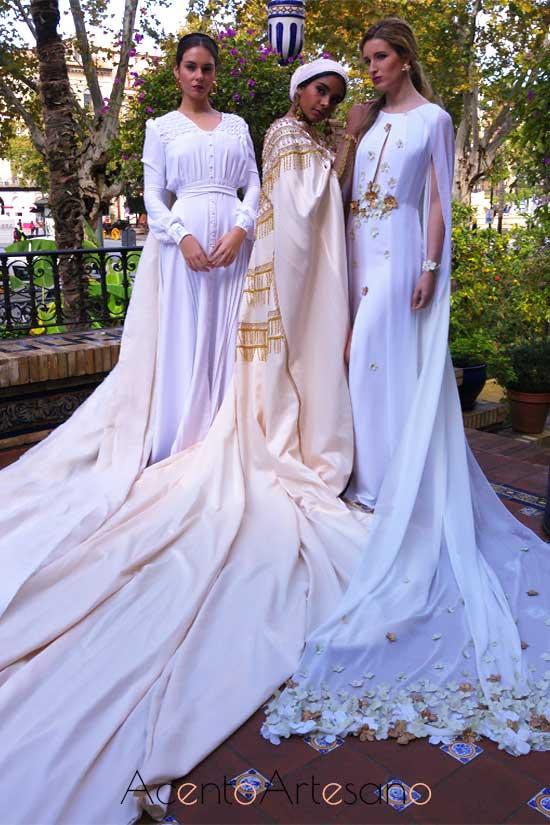 Trajes de novia de María Amador, Fergirguer y Emedé en los jardines del Hotel Alfonso XIII
