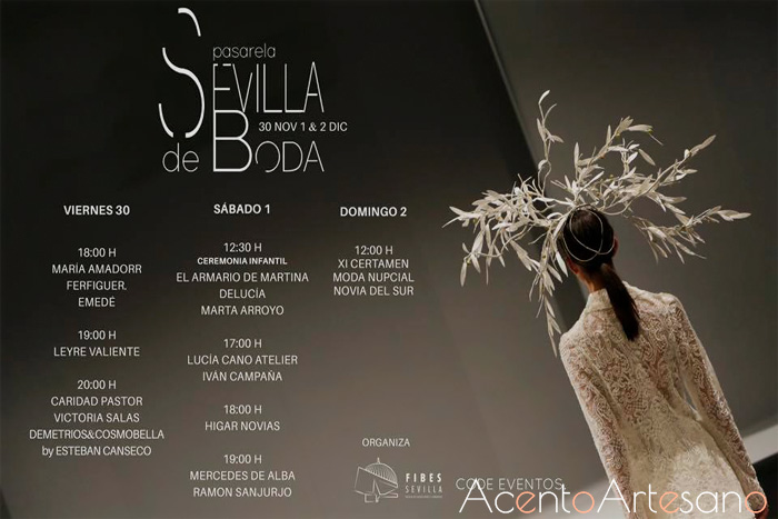 Programa de desfiles  de Sevilla de Boda 2018