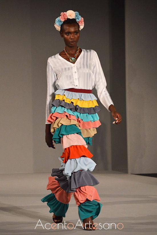 Pantalones de volantes de Consuelo García