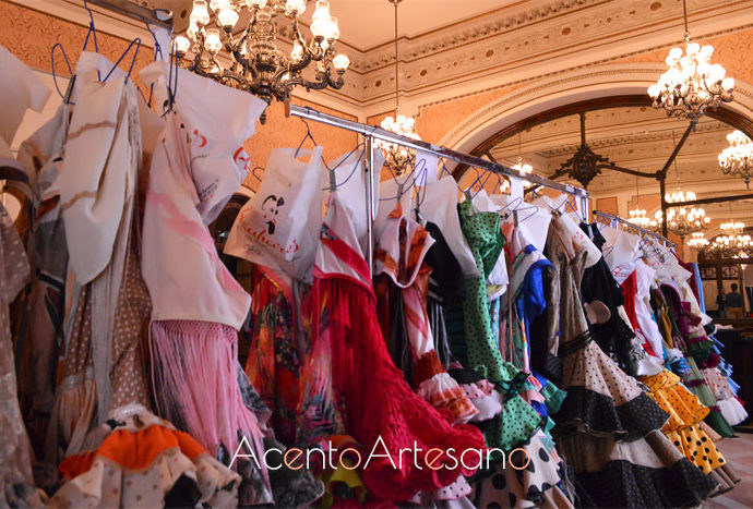 Backstage en We Love Flamenco 2019 de la colección Encantamiento de Lola Azahares