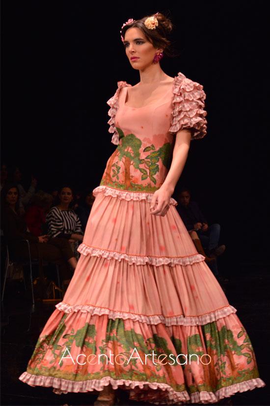 Traje de flamenca canastero de manga corta de Atelier Rima
