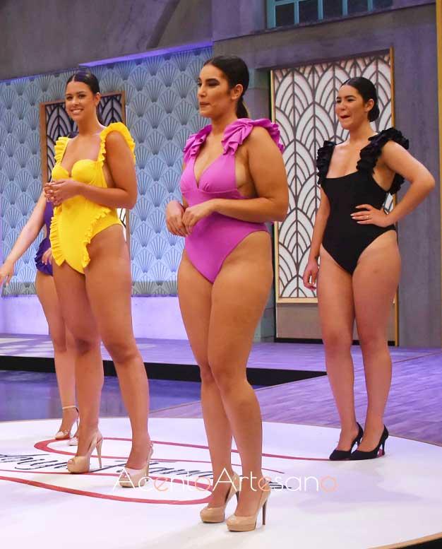 Bañadores para curvys de Johanna Calderón en Aguja Flamenca