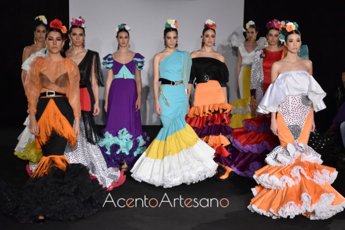 Primera colección de moda flamenca de Ani Roldán en Emprende Lunares 2020